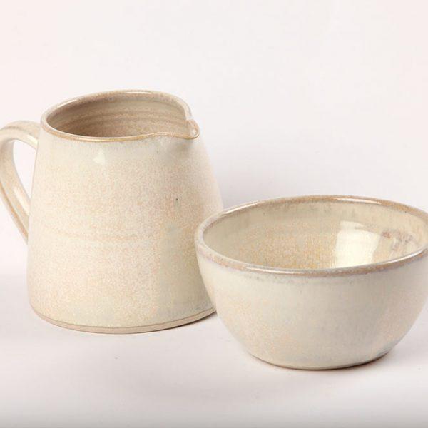 Functional Ceramic Milk and Sugar bowl