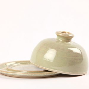 Green Butterdish handmade in Ireland