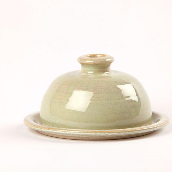 Bespoke handmade Green Butter Dish