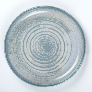Flat food Platter Blue handmade in the Wild Atlantic Way