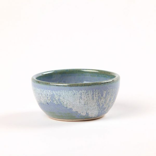Blue dipping bowl handmade in West Cork