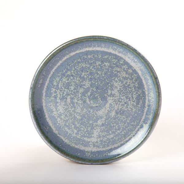 Functional ceramic blue side plate