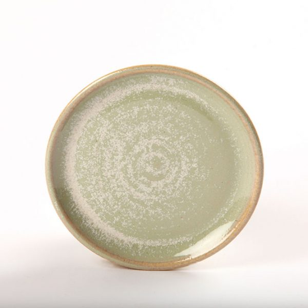 Functional Ceramic Green Side Plate Irish