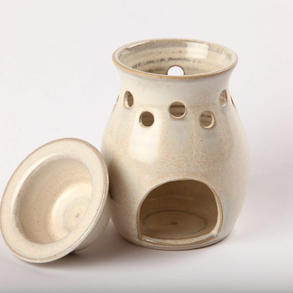 Handmade Ceramic Oil Burner White
