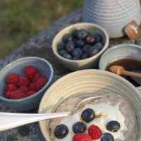 Healthy Breakfast Outdoors