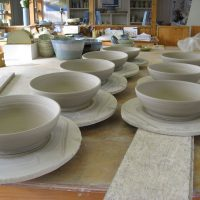 Making Process Handmade Pottery Bowls