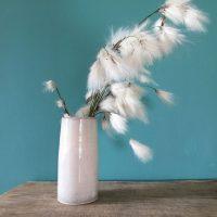 Handmade Irish White Pottery Vase
