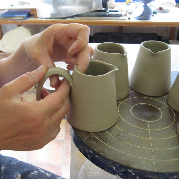 Making spouts for jugs handmade pottery