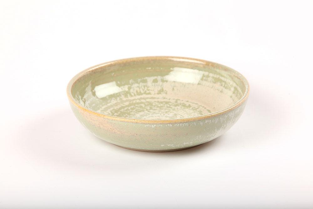 Green dessert bowl