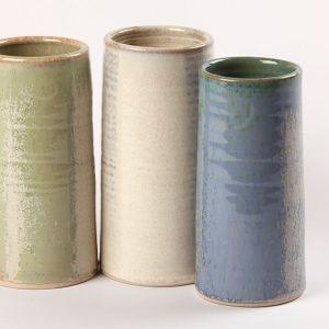 Irish Design and Craft Handmade Pottery Vases