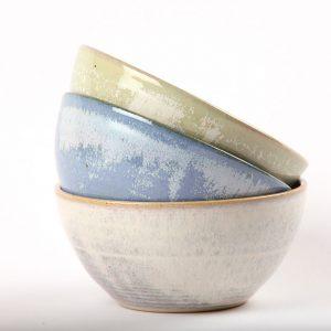 Set of beautiful handmade bowls