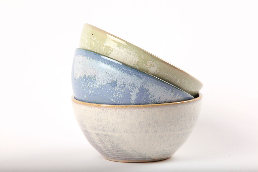 Set of beautiful handmade bowls