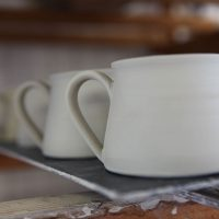 Pottery Making Process coffee cups