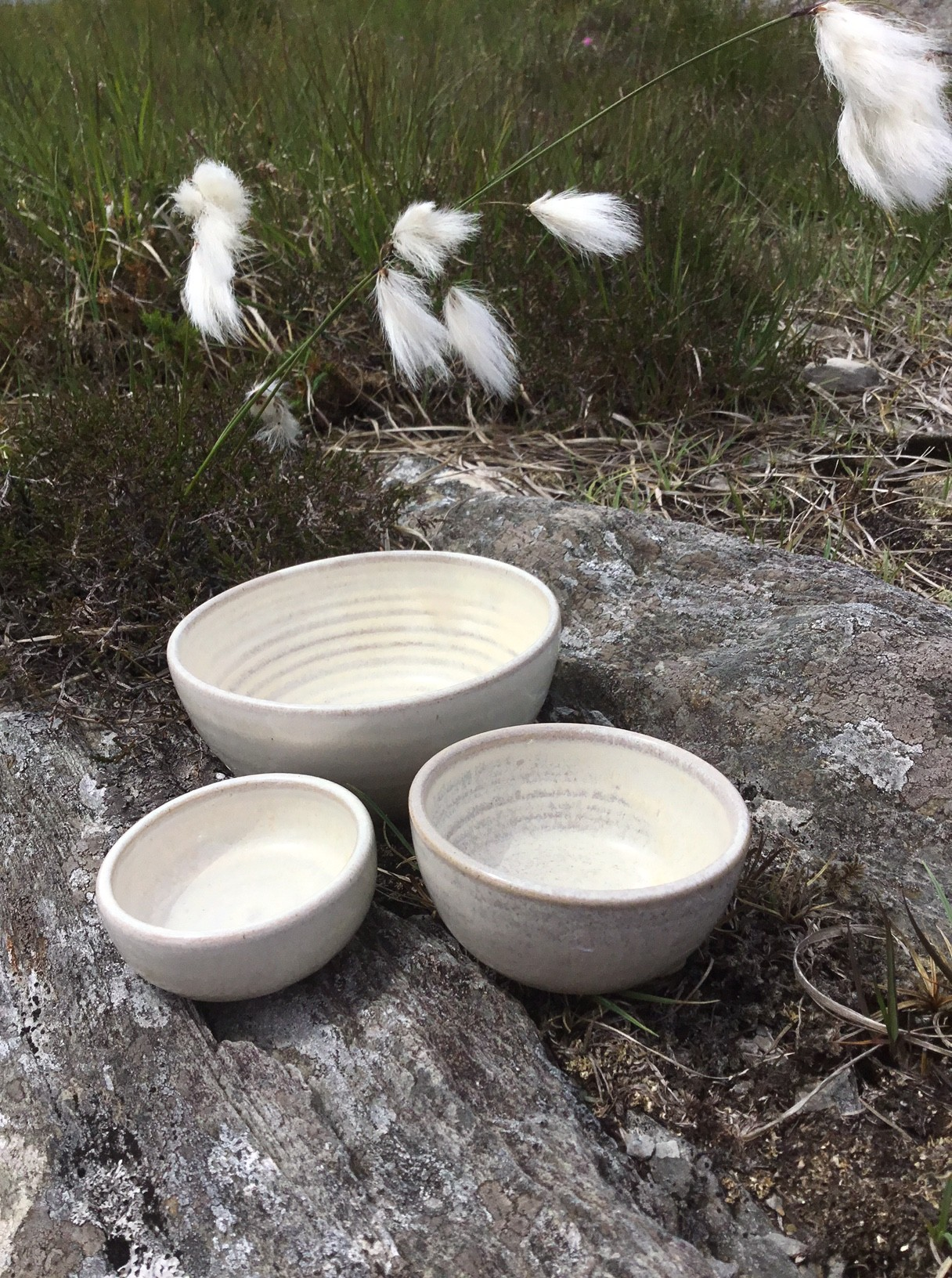 Selection of handmade pottery bowls and dishes made near the Sheeps Head, West Cork